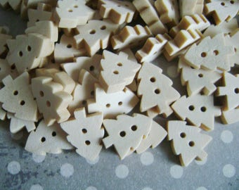 Wooden tree buttons
