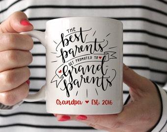 Grandpa Gift Baby Announcement Grandparent Pregnancy Announcement Grandpa Pregnancy Reveal Grandparents Grandpa Gift Grandpa Mug New Red