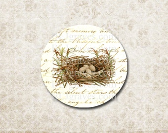 Stickers Bird Nest Eggs Script Envelope Seals Wedding Party Favor Treat Bag Stickers SP049