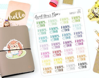 Family Time Planner Stickers - Script Stickers - Family Stickers - 127