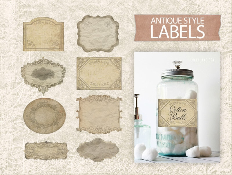 Free Printable Antique Labels Worksheet Coloring Pages