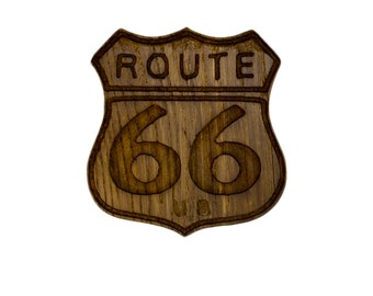 Patch Route 66 in Old oak polished and satin