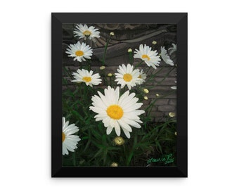 Mom's Daisies Framed Pring