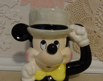Vintage Mickey Mouse Mug, Mickey Mouse Cup,  Mid Century Mickey Mouse Mug, made in Japan