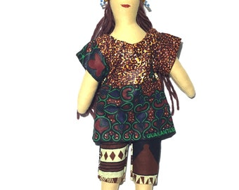 The Zambezi Doll is made out of natural materials that are environmentally friendly . The skin is 100% cotton jersey .