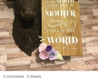 Mother's Day quote wall plaque