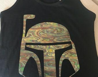 Star Wars Boba Fett razorback black tank top