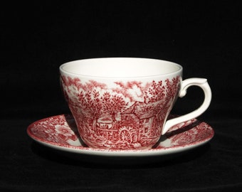 Broadhurst   Constable Series   Pink and White   Tea Cup and Saucer   Replacement   Six available