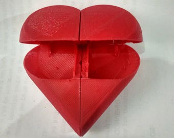 Secret Heart Box, 3d printed, 7cm, February 14th Gift