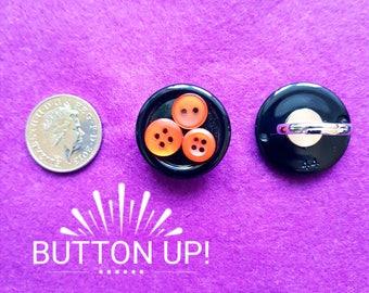 Handmade adjustable Button Ring