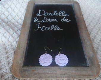 Printed Arabesque earrings