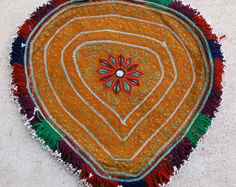 Embroidered Bicycle Seat Cover: Vintage Pashtun Katawaz Embroidery of Afghanistan, Item 3