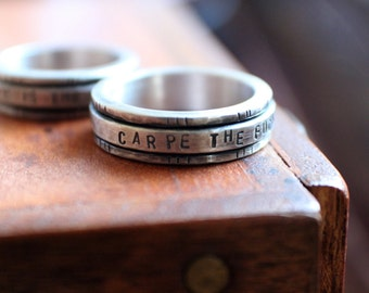 Carpe the F*** Outta that Diem, Girl. MADE TO ORDER Spinner ring