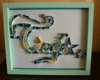 TO ORDER! Beautiful custom paper quilling frame