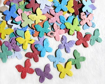 100+ Seed Paper Butterflies - Plantable Paper Butterfly Wedding Favor - Confetti Seed Paper