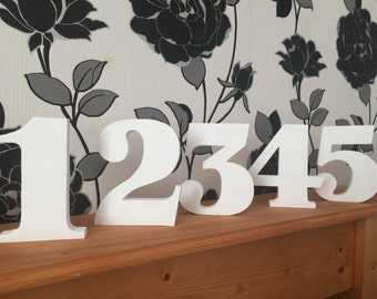 Large wooden freestanding table numbers - wedding/party/birthday/events