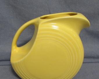 Pitcher, Water or Juice, Fiesta Original, Golden Yellow, 1950's or 1960's