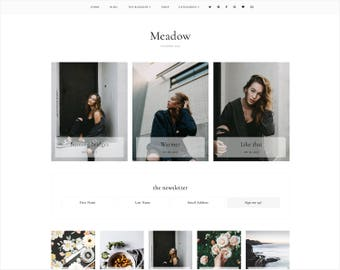 Meadow | Responsive Blogger Template With LANDING PAGE + Free Installation