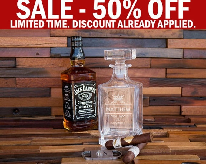 Decanter, Whiskey Gift, Man Gift Idea, Best Father's Day Gift, Men's Gift, Alcohol Gift, Barware Gift, Bar Gift, Housewarming Gift, Wet Bar