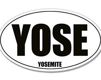 Bw Oval Yose Bumper Sticker (Yosemite Decal)