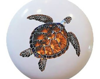 Sea Turtle Ceramic Knob or Drawer Pull