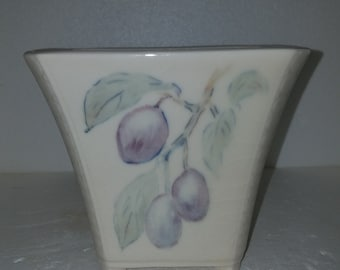 Vintage Rookwood Pottery Footed Vase/Planter 1940s Hand painted Signed C.Z.