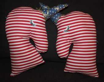 DUO pillow Unicorn colors red, white and blue style US