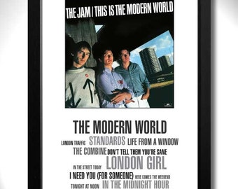THE JAM - This is the Modern World Album Limited Edition Unframed A4 Art Print with Song Titles