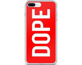 DOPE Typographic Red iPhone Case