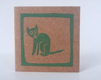 Minikaart Kat, mini card, mini Karte, Cat, Katze