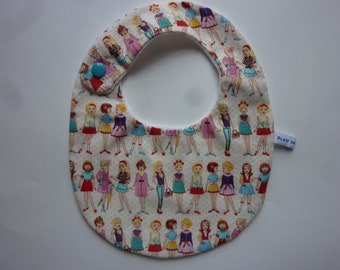 Pretty little ladies and organic Terry - shipping offered France bib