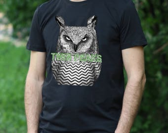 Twin Peaks Tshirt Twin Peaks Shirt Twin Peaks T-Shirt Twin Peaks Twinpeaks mens shirt owls tshirt owl shirt owls are not what they seem