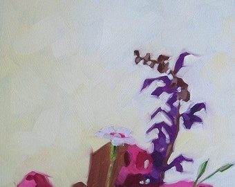 COLLECTION original oil floral still life of wildflowers