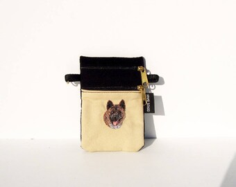 Akita Dog Small Cell Phone Case on Black