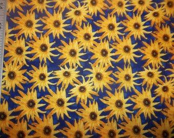 April Showers Bring Sunflowers Cotton Fabric #228