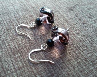 Glass Swirly Earrings