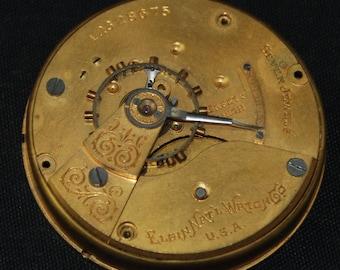 Gorgeous Vintage Antique Elgin Watch Pocket Watch Movement Steampunk Altered Art Assemblage Industrial SM 77