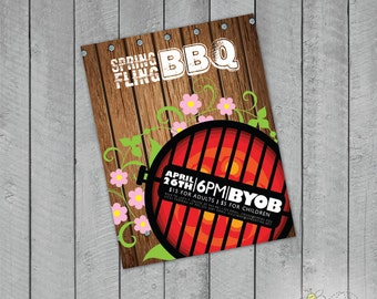 Custom Smokin' BBQ Party Invite or Flyer