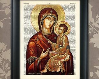 Virgin Mary, The Theotokos, Byzantine Art, Virgin Mary print, Virgin Mary poster, Virgin Mary gift, Virgin Mary, Virgin Mary art,Greek Icons
