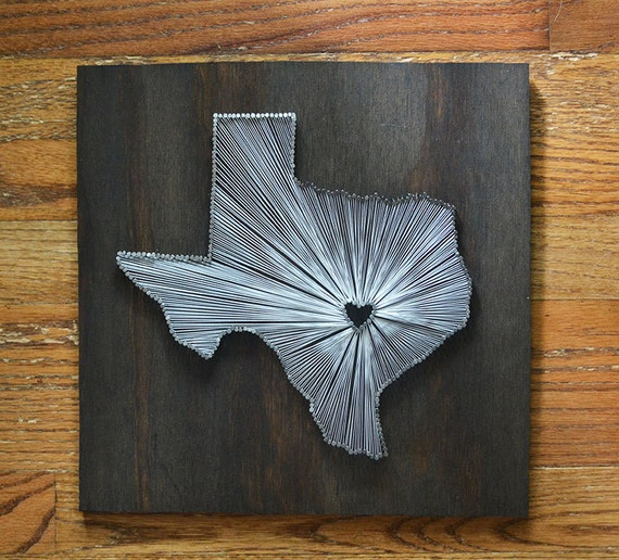 Stained Texas State String Art Austin Texas Stained Nail