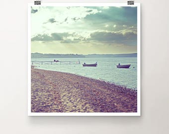 BeachBreak - Fine Art Print Photography Photo sky beach summer break boat sunshine