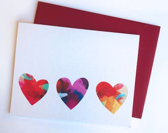Abstract Painted Heart Card