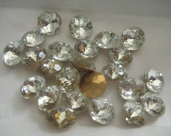 Lot of 3 60SS or 14mm Crystal Czech Rhinestones for Bezeling
