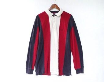 Vintage tommy shirt size L vintage tommyhilfiger crewneck tommy hilfiger sweatshirt champion usa tommy hilfiger big flag