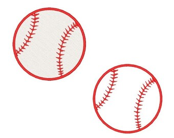 Baseball Machine Embroidery Design Baseball Applique Sports Embroidery Designs Ball  Filled Stitch Instant Download