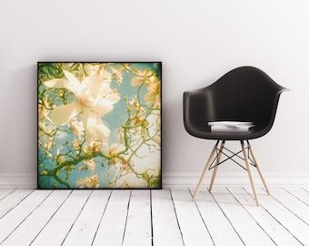 Magnolia Print, Floral Wall Art, Vintage Bedroom Art - Magnolia