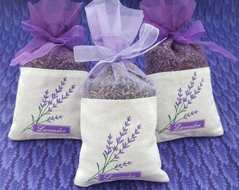 French Lavender Sachets 30 pack, great for wedding toss, wedding favors, baby showers, gift giving, drawers, closets, bug repellent
