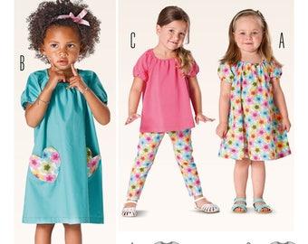 Pattern dress and shirt / tunic for girl Burda 9438