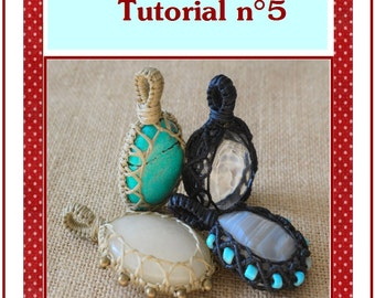 New Macrame stone wrapping Tutorial n 5