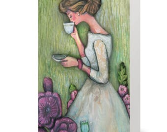"Afternoon Tea 5x7"" Card (Blank Inside)"